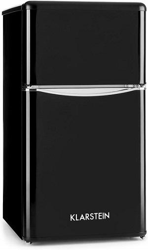 mini frigorifico negro con congelador